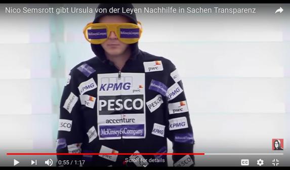 Nico Semsrott gibt Ursula von der Leyen Nachhilfe in Sachen Transparenz