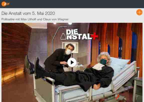 ZDF - Die Anstalt vom 5. Mai 2020 -über den Wahnsinn des dt. 'Gesundheits'wesens u zB. die Rolle von Bertelsmann dabei -siehe auch den 'Faktencheck' dazu!