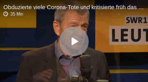 Rechtsmediziner Klaus Püschel obduzierte viele Corona-Tote und kritisierte früh das Robert-Koch-Institut.
