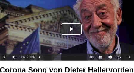 Corona Song von Dieter Hallervorden - Shared September 25, 2020 Dieter Hallervorden: Ich bin dafür bekannt, Flagge zu zeigen: satirisch, augenzwinkernd, humoristisch aber dennoch ernsthaft. Zum Wochenende kommt hier als Bonbon mein brandneuer Corona-Song!