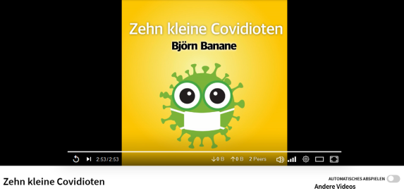 Provided to YouTube by DistroKid - Zehn kleine Covidioten · Björn Banane ℗ Banane Records - Released on: 2021-08-13 - Auto-generated by YouTube - Länge 2 min 53 sec